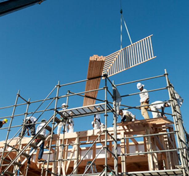 永森建設の施工風景